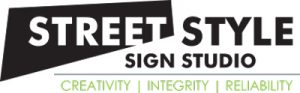 logo street sign style