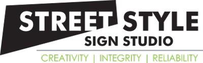logo street sign style