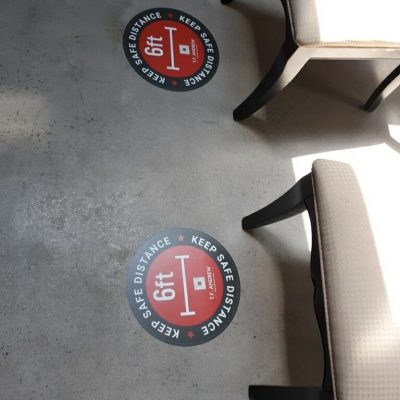 safety social distancing stickers